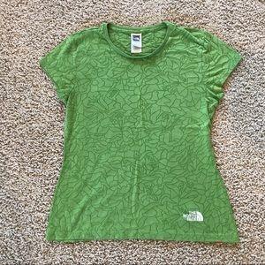 The North Face Semi Sheer V Neck T Shirt Green